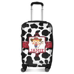 Cowprint Cowgirl Suitcase (Personalized)