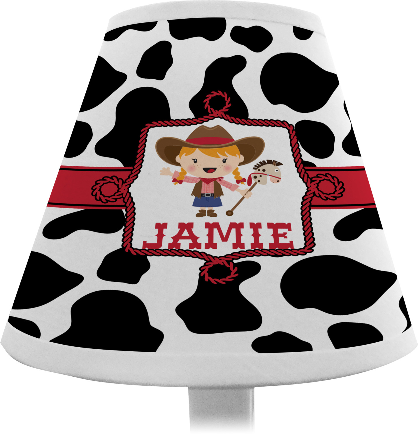 Cowprint Cowgirl Chandelier Lamp Shade (Personalized) - YouCustomizeIt