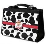 Cowprint Cowgirl Classic Tote Purse w/ Leather Trim (Personalized)