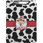 Cowprint Cowgirl Clipboard (Personalized)