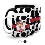 Cowprint Cowgirl Coffee Mugs (Personalized)
