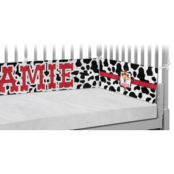 Cowprint Cowgirl Crib Bumper Pads (Personalized)