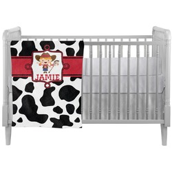 Cowprint Cowgirl Crib Comforter / Quilt (Personalized)