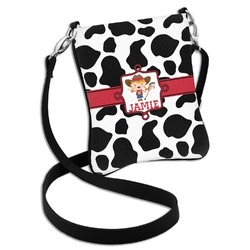 Cowprint Cowgirl Cross Body Bag - 2 Sizes (Personalized)