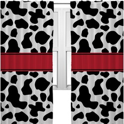 Cowprint Cowgirl Curtains (2 Panels Per Set) (Personalized)