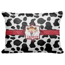 "Cowprint Cowgirl Decorative Baby Pillowcase - 16""x12"" (Personalized)"