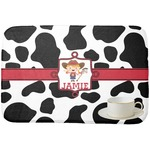 Cowprint Cowgirl Dish Drying Mat (Personalized)