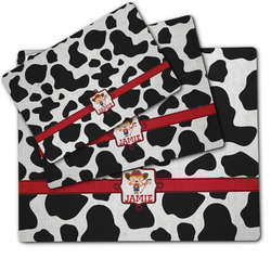 Cowprint Cowgirl Dog Food Mat w/ Name or Text