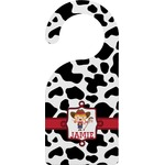 Cowprint Cowgirl Door Hanger (Personalized)