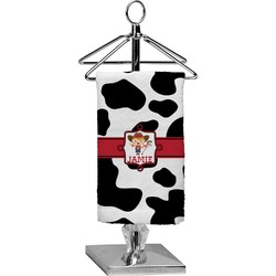 Cowprint Cowgirl Finger Tip Towel - Full Print (Personalized)