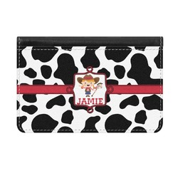Cowprint Cowgirl Genuine Leather ID & Card Wallet - Slim Style (Personalized)