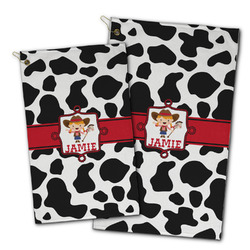 Cowprint Cowgirl Golf Towel - Full Print w/ Name or Text