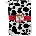 Cowprint Cowgirl Golf Towel - Full Print (Personalized)