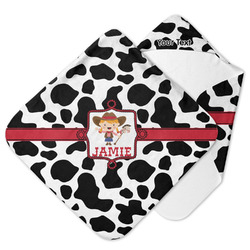 Cowprint Cowgirl Hooded Baby Towel (Personalized)