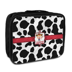 Cowprint Cowgirl Insulated Lunch Bag (Personalized)