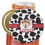 Cowprint Cowgirl Jar Opener (Personalized)