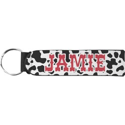 Cowprint Cowgirl Neoprene Keychain Fob (Personalized)