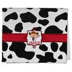 Cowprint Cowgirl Kitchen Towel - Full Print (Personalized)