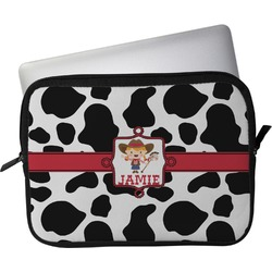 """Cowprint Cowgirl Laptop Sleeve / Case - 15"""" (Personalized)"""