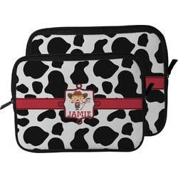 Cowprint Cowgirl Laptop Sleeve / Case (Personalized)