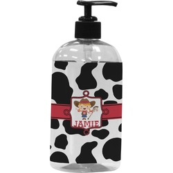 Cowprint Cowgirl Plastic Soap / Lotion Dispenser (Personalized)