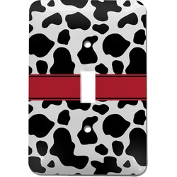Cowprint Cowgirl Light Switch Cover (Single Toggle) (Personalized)