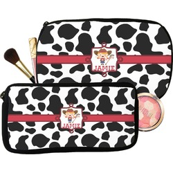 Cowprint Cowgirl Makeup / Cosmetic Bag (Personalized)