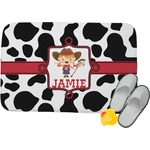 Cowprint Cowgirl Memory Foam Bath Mat (Personalized)