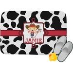 Cowprint Cowgirl Memory Foam Bath Mat (Personalized)