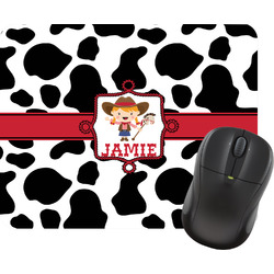 Cowprint Cowgirl Mouse Pad (Personalized)