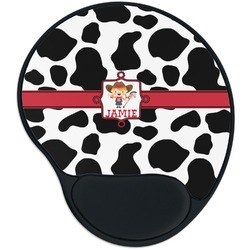 Cowprint Cowgirl Mouse Pad with Wrist Support