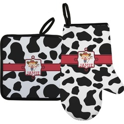 Cowprint Cowgirl Oven Mitt & Pot Holder (Personalized)