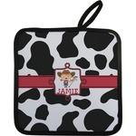 Cowprint Cowgirl Pot Holder w/ Name or Text