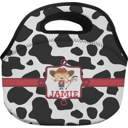 Cowprint Cowgirl Lunch Bag (Personalized)