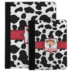Cowprint Cowgirl Padfolio Clipboard (Personalized)