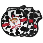 Cowprint Cowgirl Iron on Patches (Personalized)