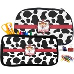 Cowprint Cowgirl Pencil / School Supplies Bag (Personalized)