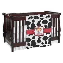 Cowprint Cowgirl Baby Blanket (Personalized)