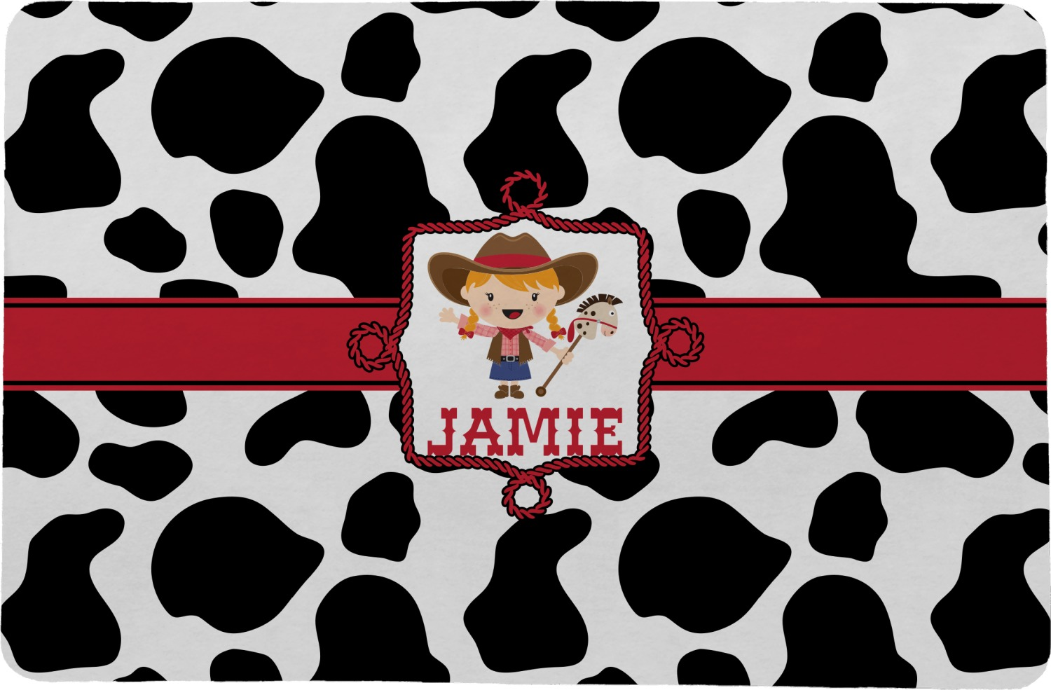 Cowprint Cowgirl Comfort Mat 24 Quot X36 Quot Personalized