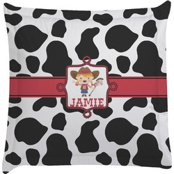 Cowprint Cowgirl Euro Sham Pillow Case (Personalized)