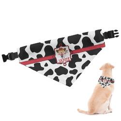 Cowprint Cowgirl Dog Bandana (Personalized)