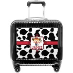 Cowprint Cowgirl Pilot / Flight Suitcase (Personalized)