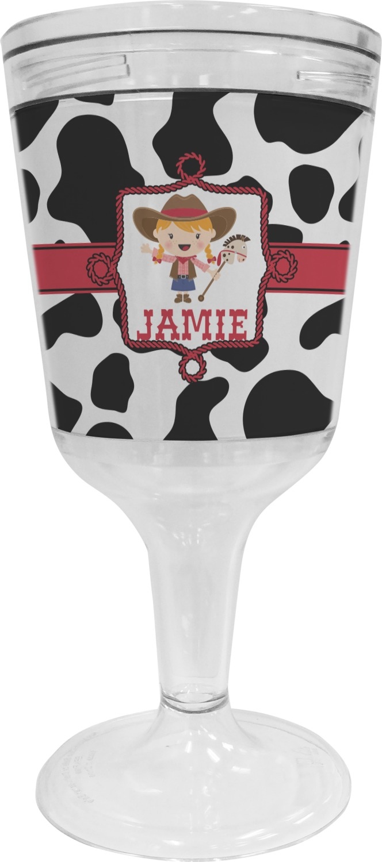 Giraffe Print Wine Tumbler Personalized 11 oz Plastic