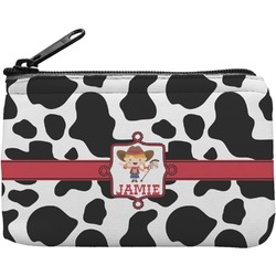 Cowprint Cowgirl Rectangular Coin Purse (Personalized)