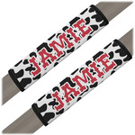 Cowprint Cowgirl Seat Belt Covers (Set of 2) (Personalized)