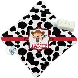 Cowprint Cowgirl Security Blanket (Personalized)