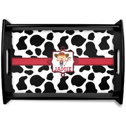 Cowprint Cowgirl Wooden Trays (Personalized)