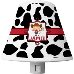 Cowprint Cowgirl Shade Night Light (Personalized)