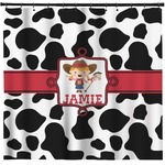 Cowprint Cowgirl Shower Curtain (Personalized)