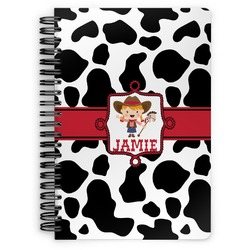 Cowprint Cowgirl Spiral Notebook (Personalized)